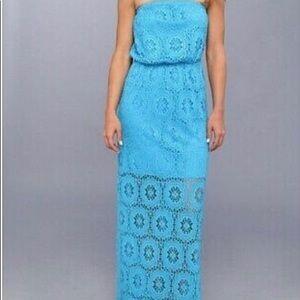 Lilly Pulitzer Emmett Lace Strapless Maxi Dress